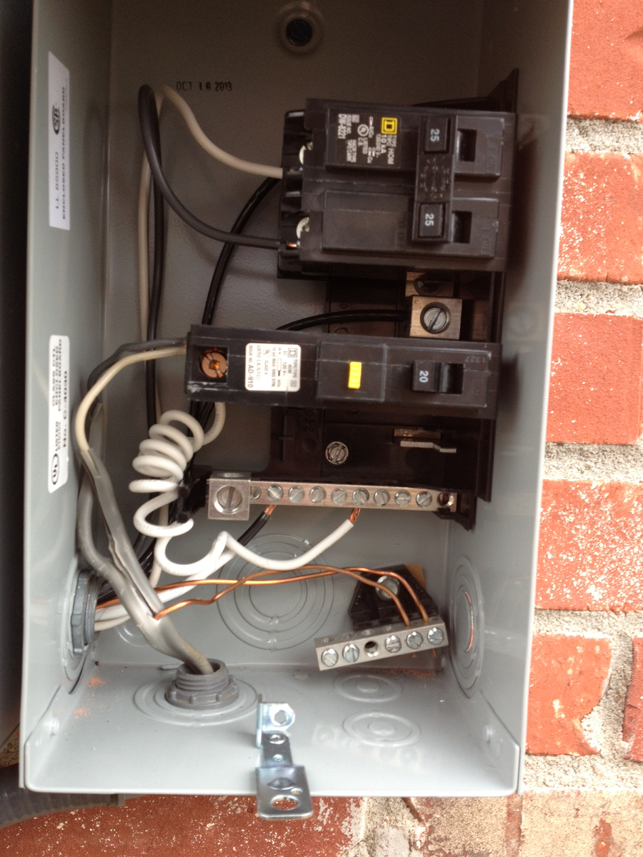 Panels Subpanels Wiring A Subpanel To Installation Of New Excellent For Landscape Or Exterior Lighting Additions